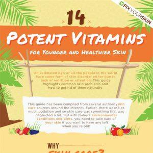 Healthy Skin: 14 Best Potent Vitamins
