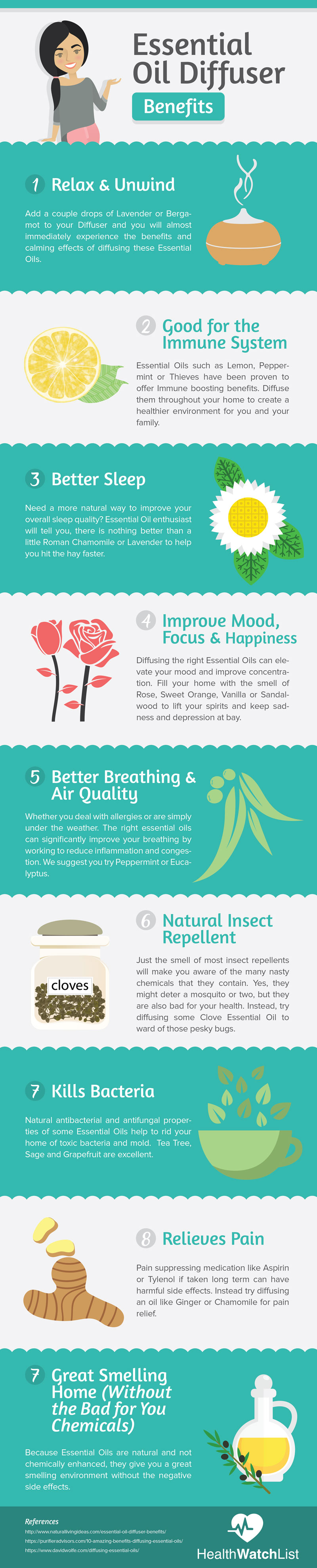 Essential Oil Diffuser Benefits