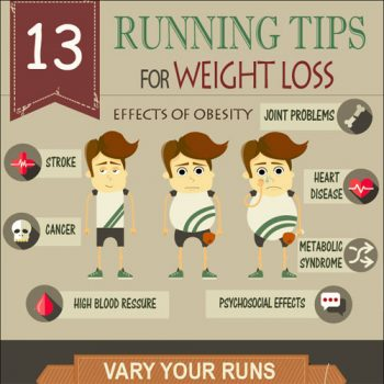Infographic: 13 Running Tips For Weight Loss