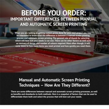 Differences between Manual & Automatic Screen Printing