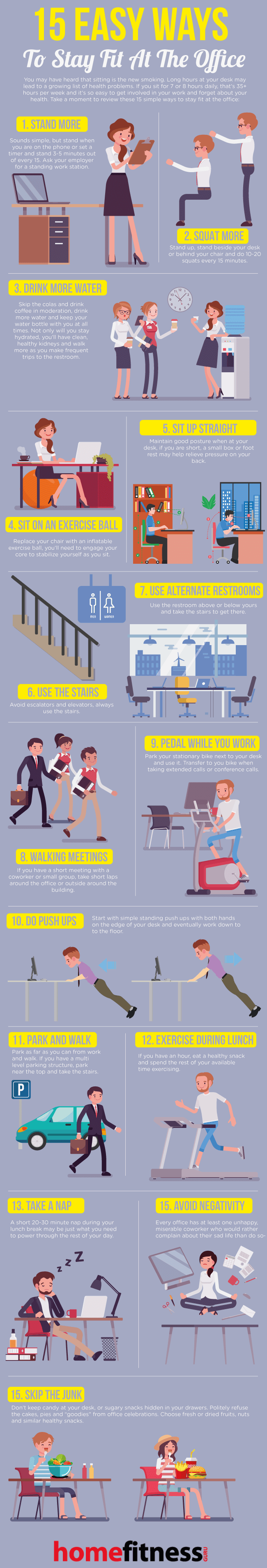 15 Best Ways To Stay Fit At The Office