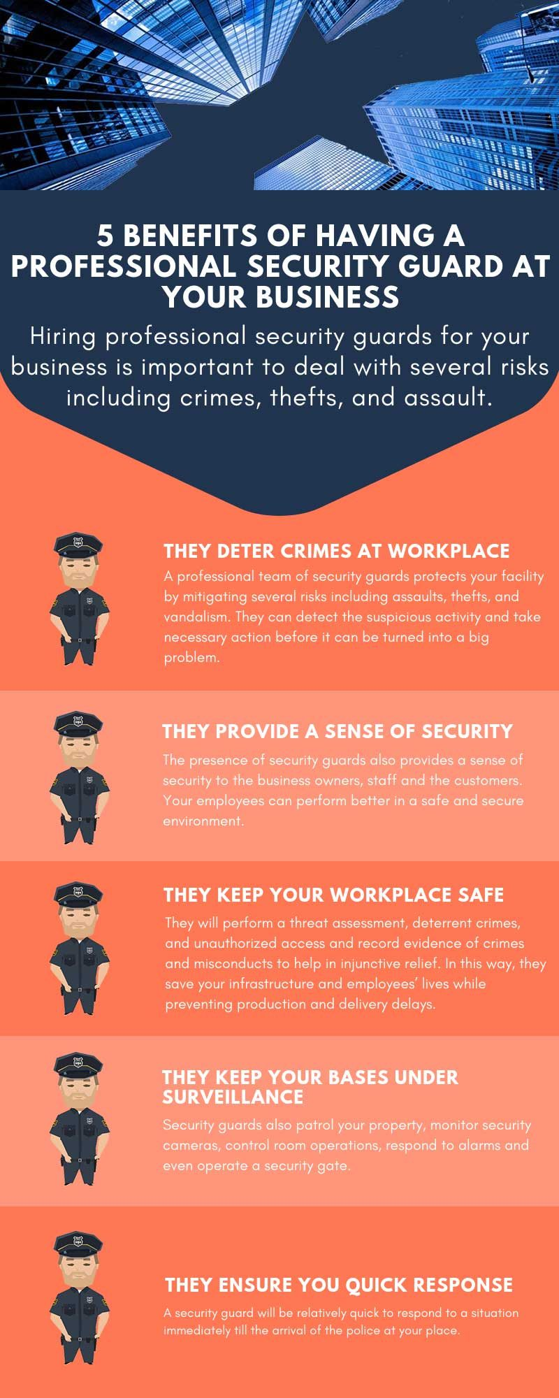Benefits of Having A Security Guard at Your Business