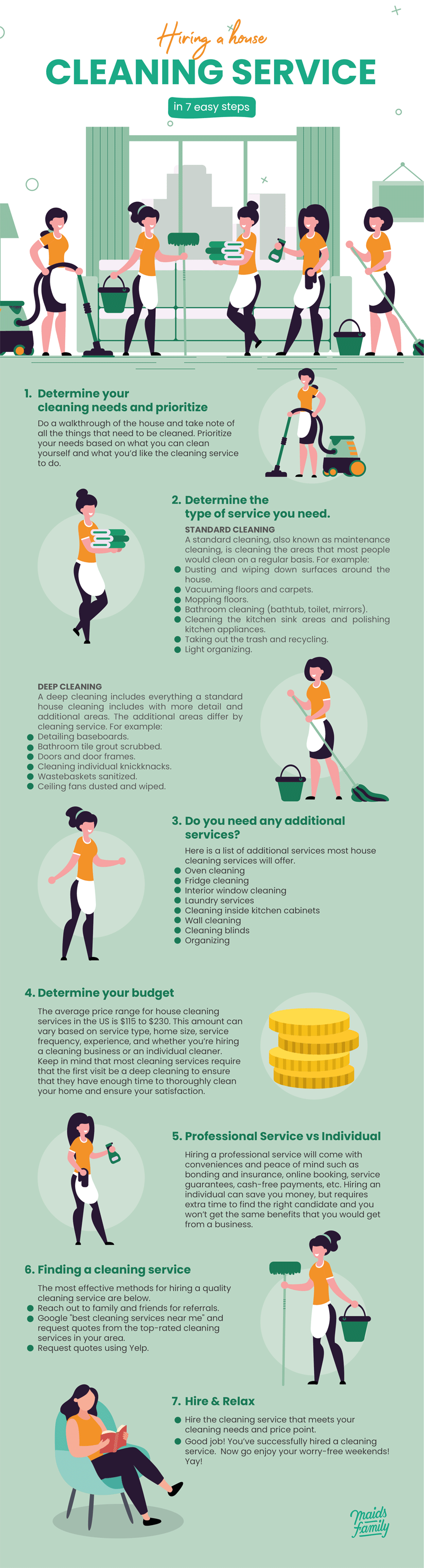 Hiring a House Cleaning Service in 7 Easy Steps