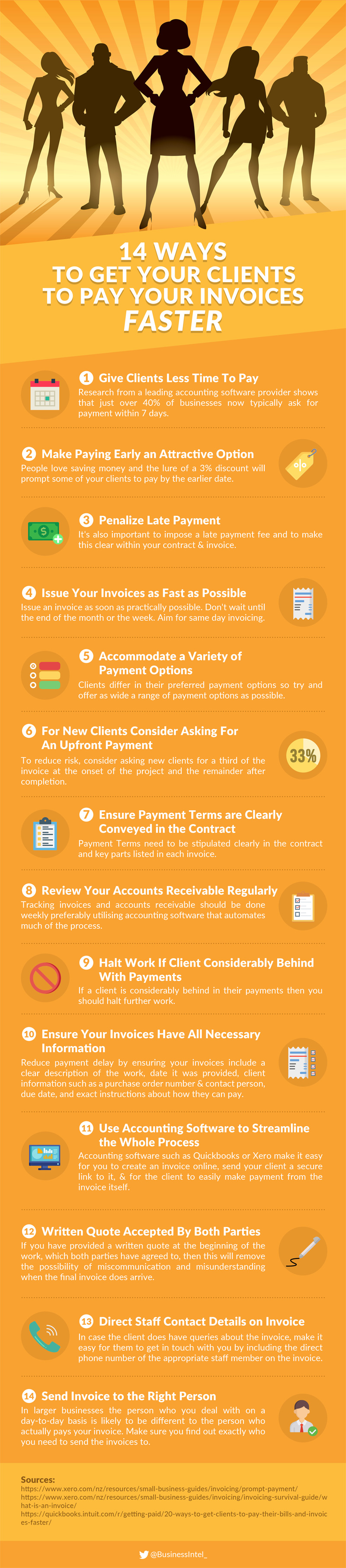 14 Ways To Get Your Clients to Pay Your Invoices Faster