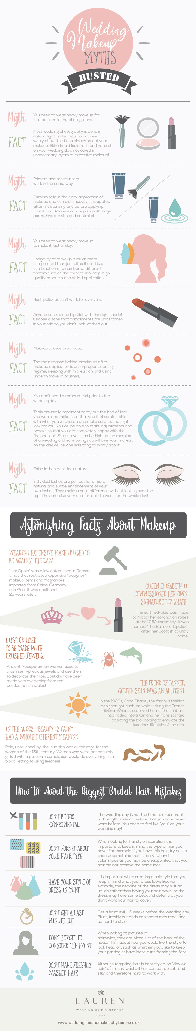 Wedding Hair and Makeup Myths Busted