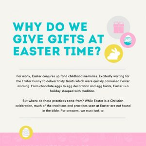 Why do we give gifts at Easter?