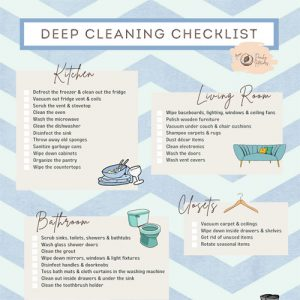 Deep Cleaning Checklist Infographic