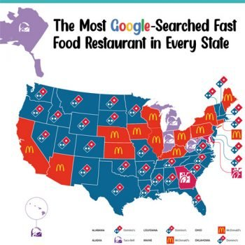 The Most-Searched Fast Food Restaurant in Every State